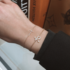 'Paris' Diamond Cross Bracelet