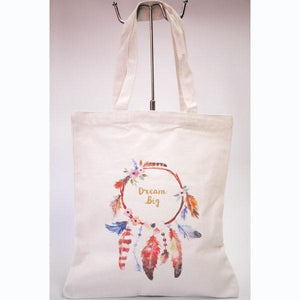 Dream Big Linen Tote Bag