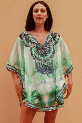 Jade Kaftan Top
