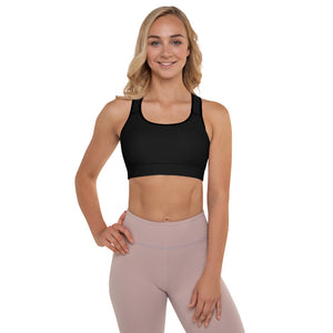 TLKS Black Padded Sports Bra