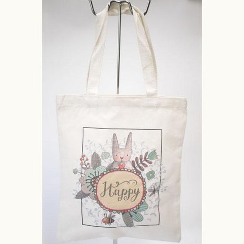 Happy Linen Tote Bag
