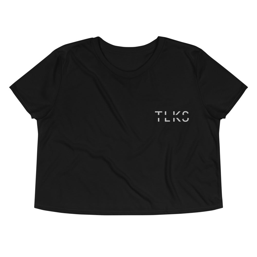 TLKS Black Staple Crop Tee