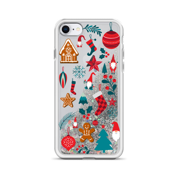 Christmas Glitter iPhone Case