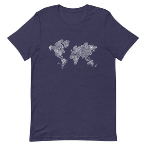 World Map Unisex Tee