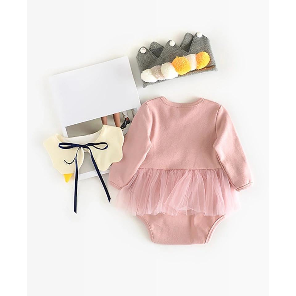 Baby Girls Swan Romper - Little Swan Boutique