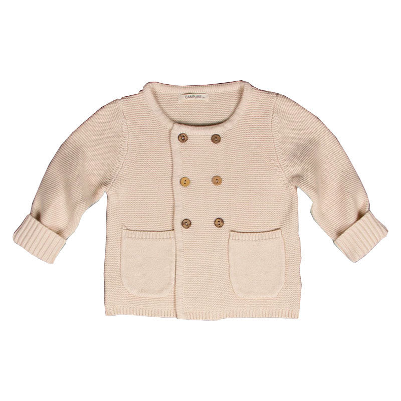Boys Knitted Cardigan With Pockets - Little Swan Boutique