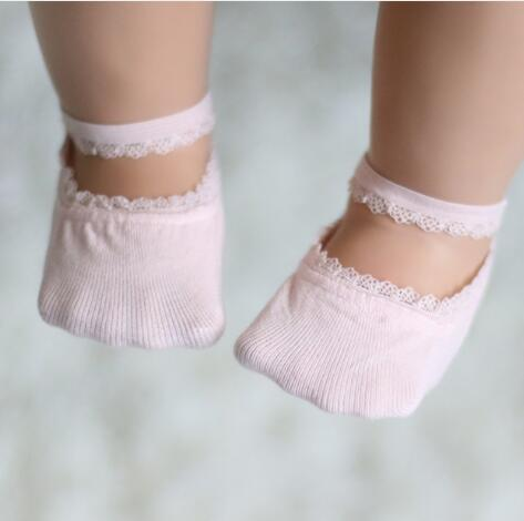 5 Pairs Baby Girls Lace Princess Socks - Little Swan Boutique