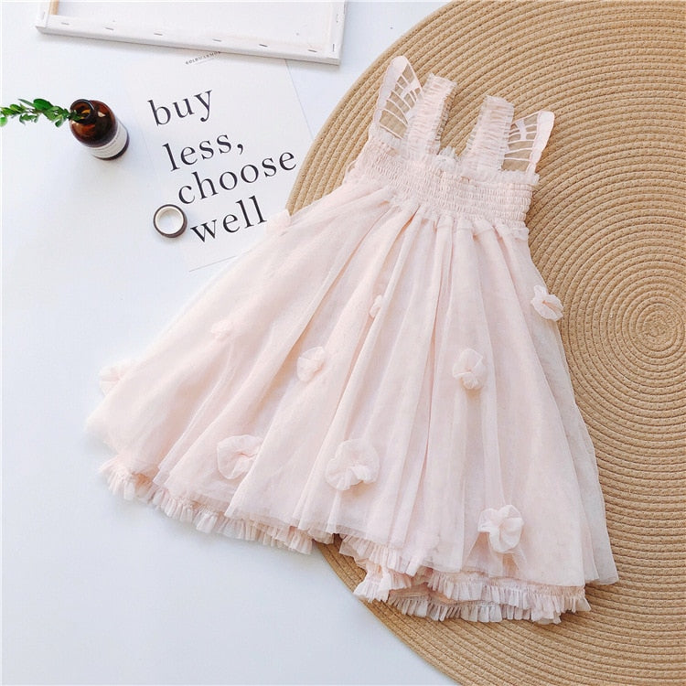 Cute Girls Butterfly Inspired Floral Dress