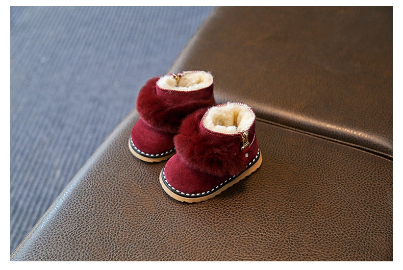 Cute Winter Girls Fur Lined Snow Boots - Little Swan Boutique