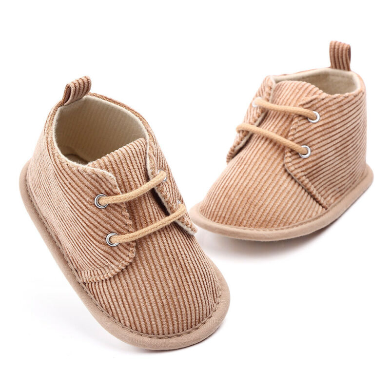 Baby Boy Soft Sole Lace Up Shoes - Little Swan Boutique