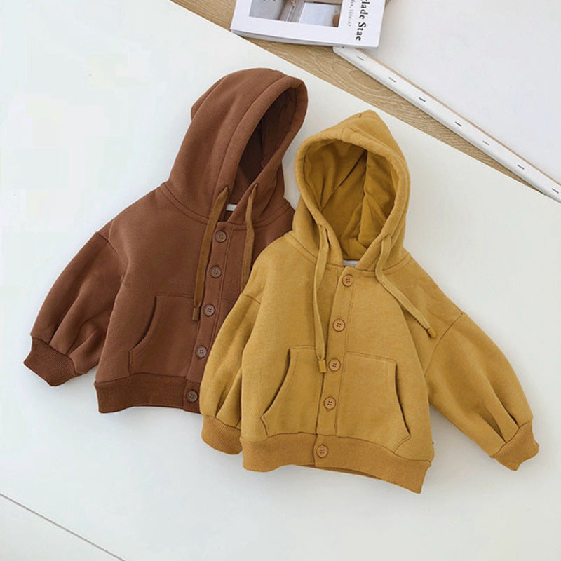 Kids Solid Fleece Jacket