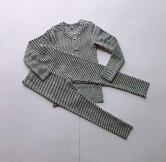 Adorable Kids Ribbed Pajamas - Little Swan Boutique