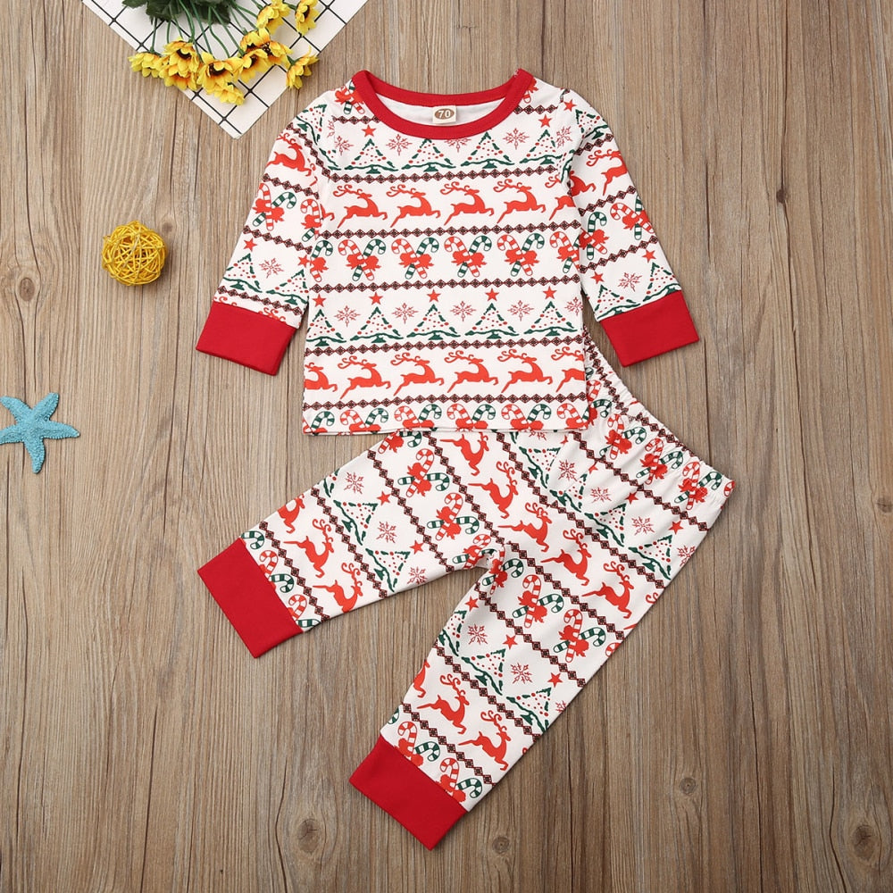 Baby's Matching Christmas Romper Clothing Sets