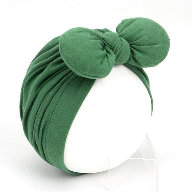 Cute Baby Girls Solid Knot Bow Headband