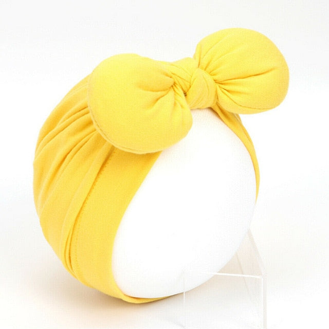 Cute Baby Girls Solid Knot Bow Headband - Little Swan Boutique