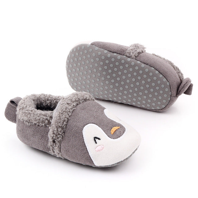 Adorable Baby's Anti-Slip Warm Fleece Slippers
