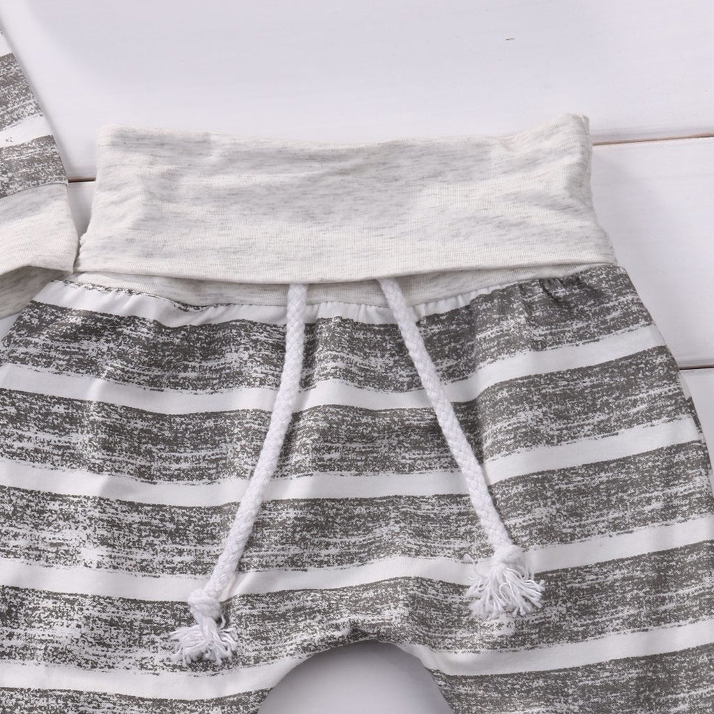 Striped Baby Clothing Set - Little Swan Boutique