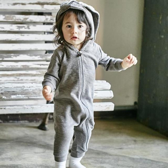 Rabbit Ear Jumpsuit - Little Swan Boutique