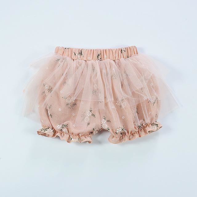 Floral Lace Baby Bloomers - Little Swan Boutique