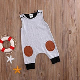 Sleeveless Patchwork Baby Jumpsuit - Little Swan Boutique