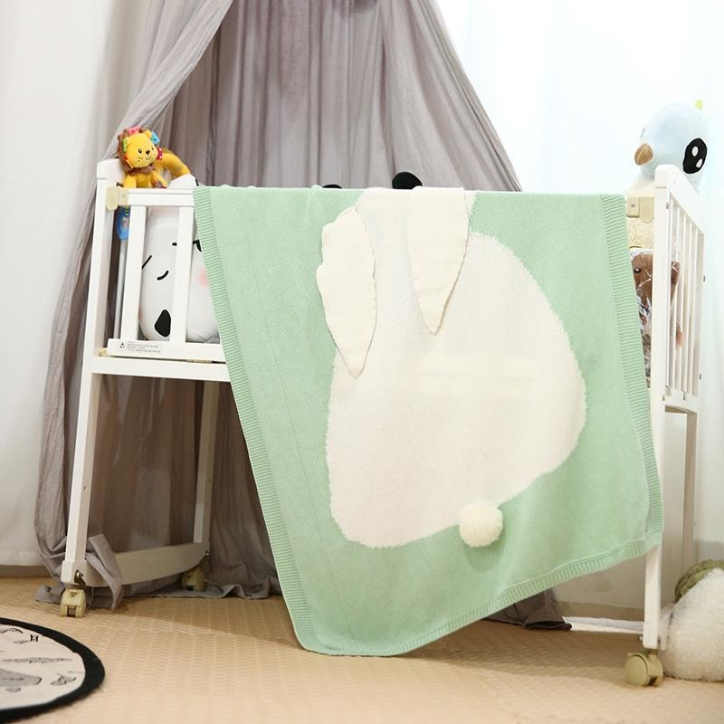 Cute Baby Rabbit Knitted Blanket - Little Swan Boutique