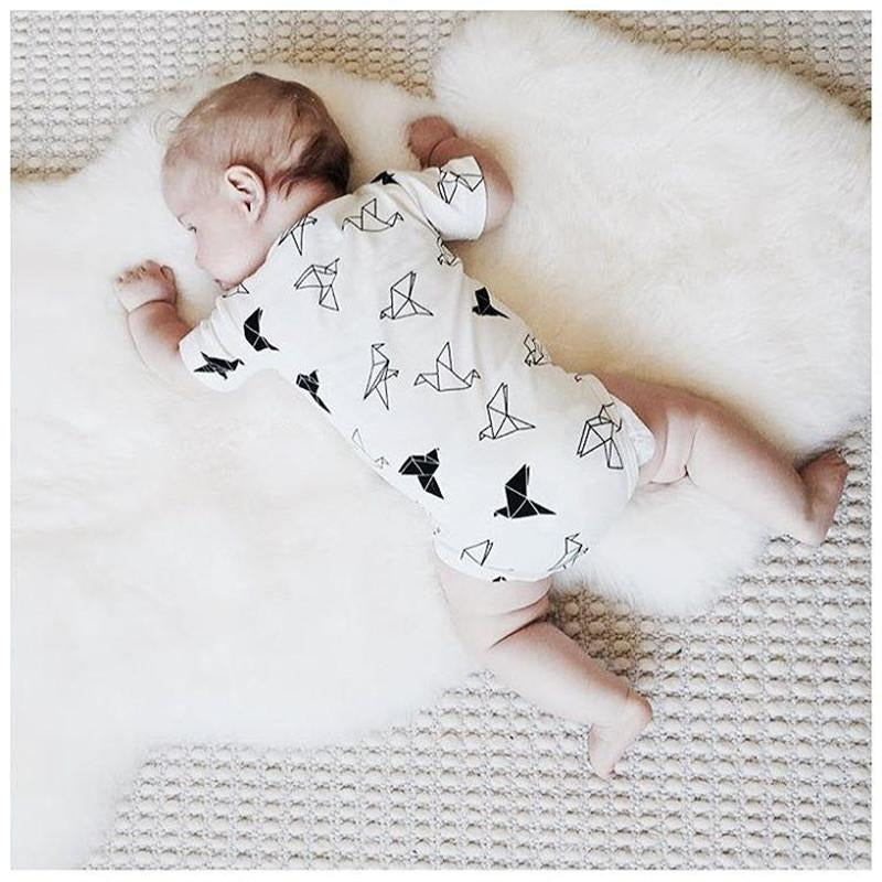 Baby Origami Print Bodysuit - Little Swan Boutique