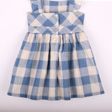 Girls Lace Plaid Pockets Dress - Little Swan Boutique