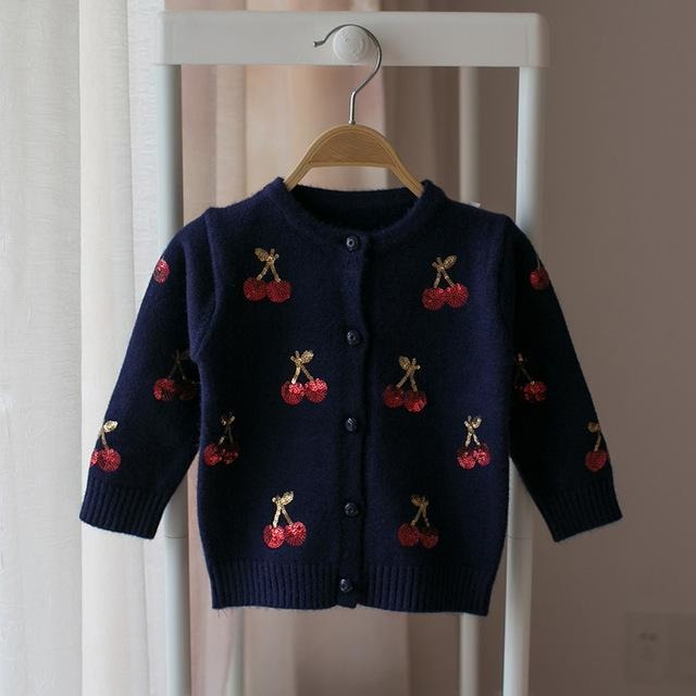 Baby Girls Cherry Cardigan - Little Swan Boutique