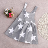 Cute Girls Star Printed Casual Summer Dress