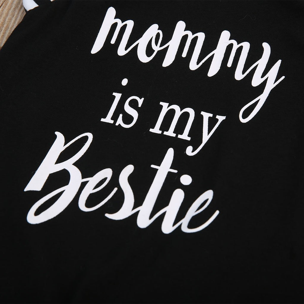 Mommy Is My Bestie Jumpsuit - Little Swan Boutique