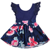 Girls Lace Floral Summer Dress - Little Swan Boutique