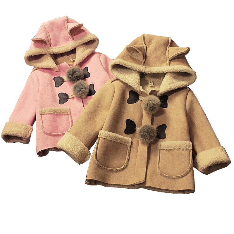 Cute Girls Hooded Jacket - Little Swan Boutique