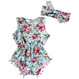 Baby Girls Floral Romper - Little Swan Boutique