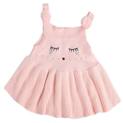 Baby Girls Knitted Cat Dress - Little Swan Boutique