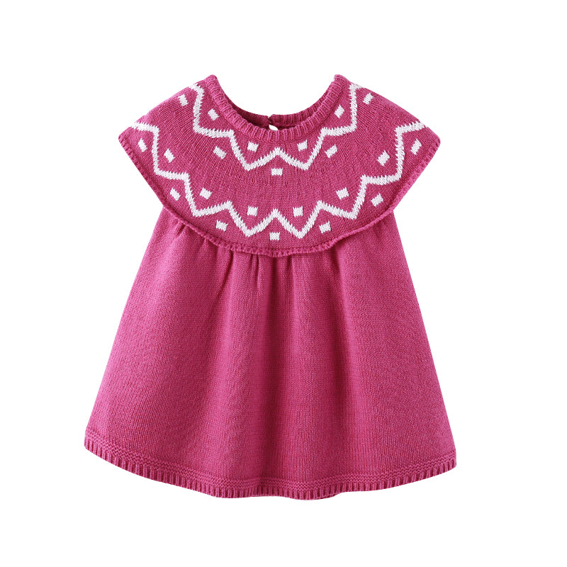 Beautiful Knitted Baby Girls Dress - Little Swan Boutique