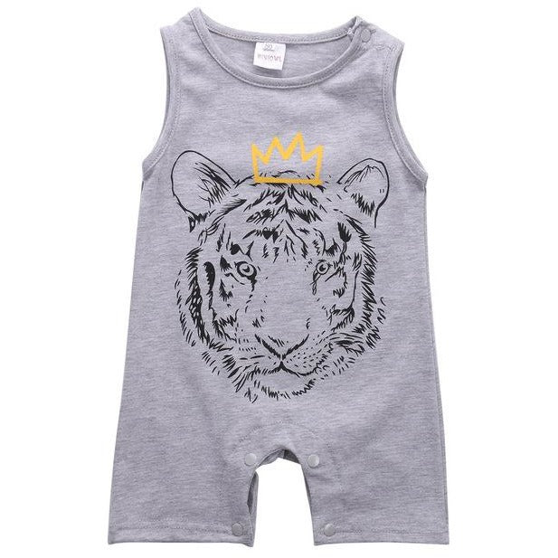 Baby Tiger Printed Jumpsuit - Little Swan Boutique