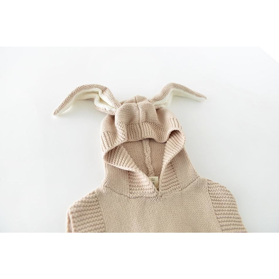 Knitted Rabbit Ears Cardigan - Little Swan Boutique