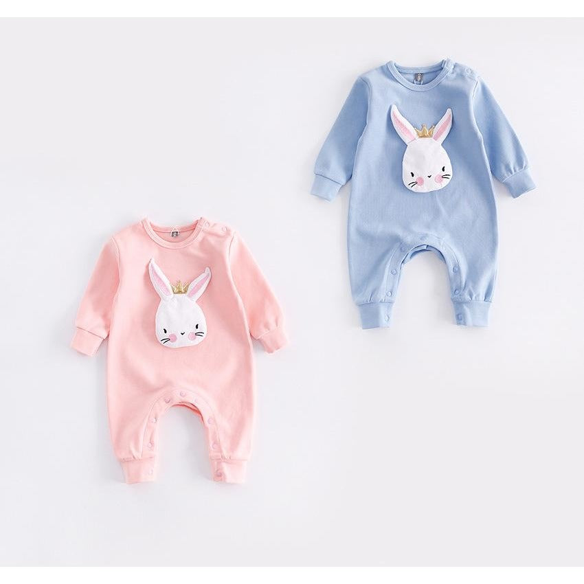 Baby Rabbit Long Sleeve Jumpsuit - Little Swan Boutique
