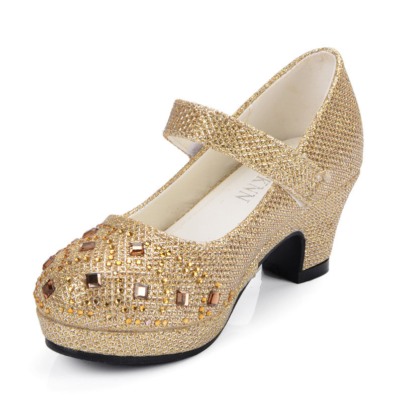 Girls High Heel Glitter Shoes - Little Swan Boutique