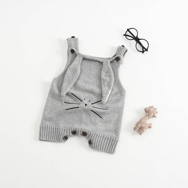 Baby Knitted Rabbit Romper - Little Swan Boutique