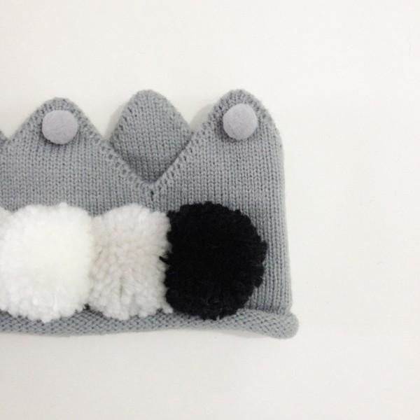 Baby Girls Knitted Crown - Little Swan Boutique