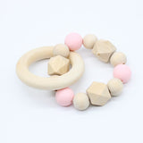 Natural Silicon Wooden Teether - Little Swan Boutique