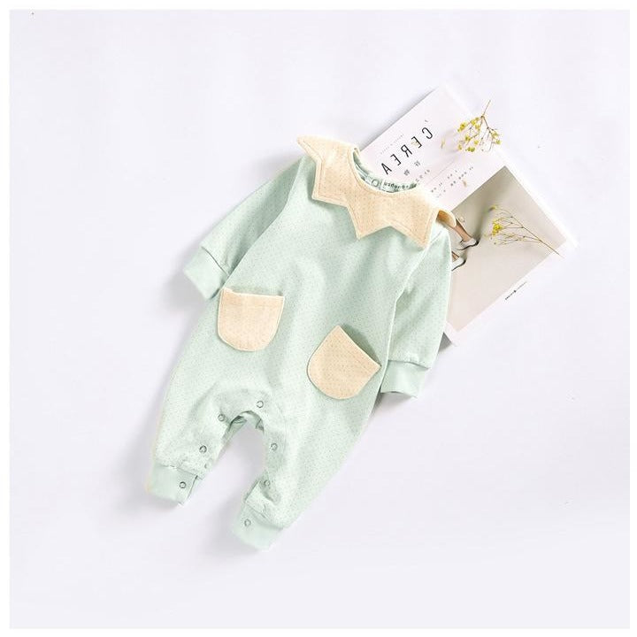 Cute Baby Pocket Jumpsuit With Bib - Little Swan Boutique