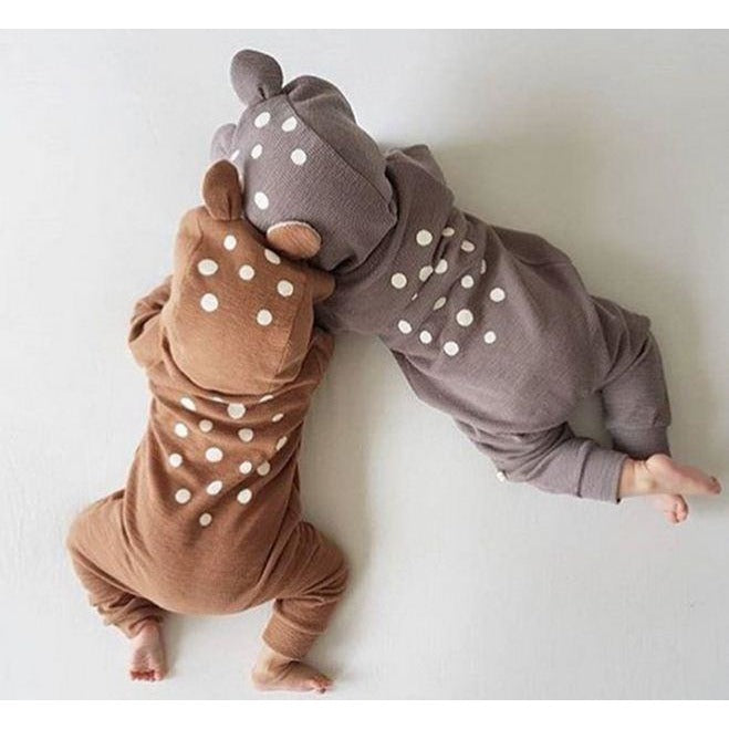 Animal Polka Dot Jumpsuit - Little Swan Boutique