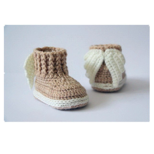 Crochet Angel Wings Baby Booties - Little Swan Boutique
