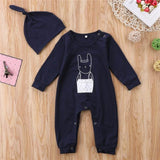 Baby Jumpsuit With Rabbit Print - Little Swan Boutique