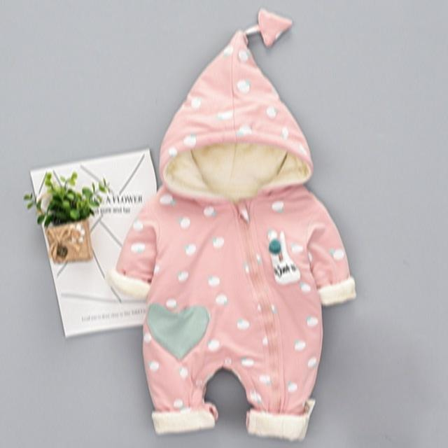 Baby Soft Cotton Hooded Jumpsuit - Little Swan Boutique