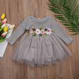 Baby Girls Flower Tutu Dress - Little Swan Boutique