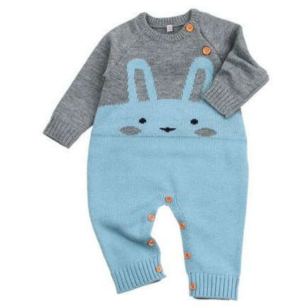 Cute Baby Rabbit Knitted Jumpsuit - Little Swan Boutique