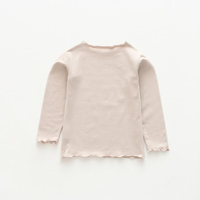 Girls Long Sleeve Basic Shirt - Little Swan Boutique